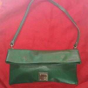 Dooney & Bourke   Green Leather Clutch/ Shoulder